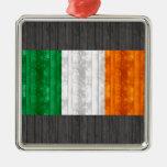 Bandera irlandesa de madera ornato