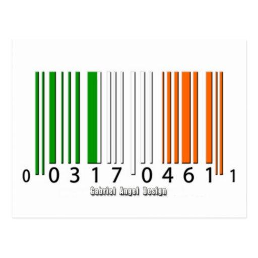 Bandera irlandesa del código de barras postal