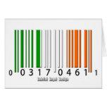 Bandera irlandesa del código de barras tarjetas