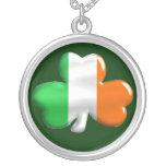 Bandera irlandesa del trébol del trébol joyerias personalizadas