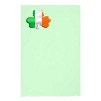 Bandera irlandesa del trébol del trébol papeleria