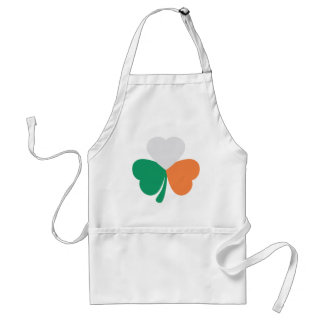 bandera irlandesa del trébol delantal