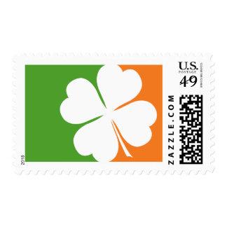 Bandera irlandesa del trébol sello