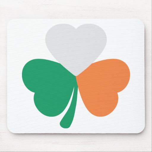 bandera irlandesa del trébol tapetes de ratones