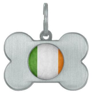 Bandera irlandesa, el regalo del arroz del St., la Placas De Nombre De Mascota