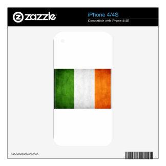 Bandera irlandesa, el regalo del arroz del St., la iPhone 4 Skin