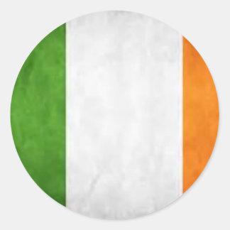 Bandera irlandesa, el regalo del arroz del St., Pegatina Redonda