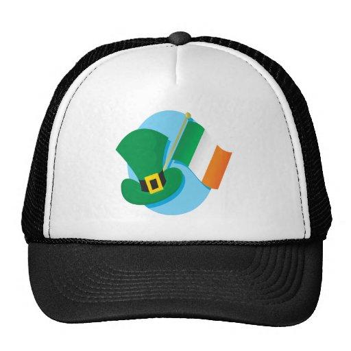 Bandera irlandesa gorros bordados