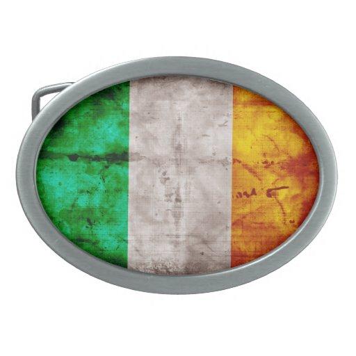 Bandera irlandesa hebillas de cinturon
