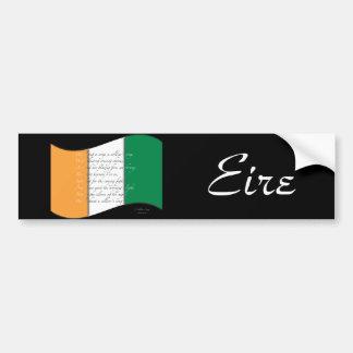 Bandera irlandesa/himno etiqueta de parachoque