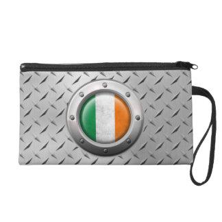 Bandera irlandesa industrial con el gráfico de ace