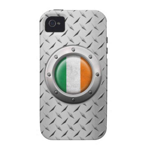 Bandera irlandesa industrial con el gráfico de ace iPhone 4/4S carcasas