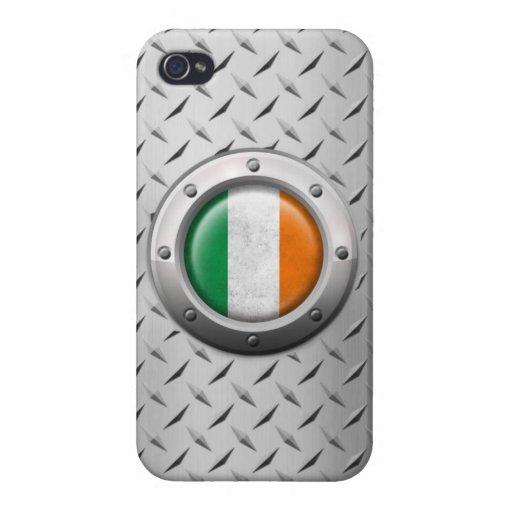 Bandera irlandesa industrial con el gráfico de ace iPhone 4 cobertura