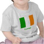 Bandera irlandesa larga camisetas
