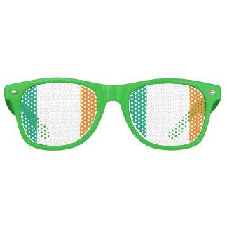 Bandera irlandesa lentes de fiesta