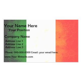 Bandera irlandesa nerviosa moderna tarjetas de visita