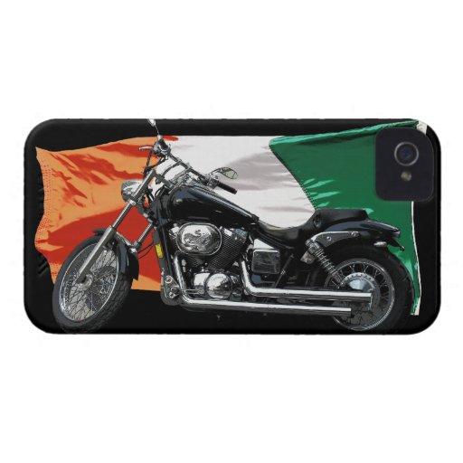 Bandera irlandesa patriótica, motocicleta, diseño  iPhone 4 Case-Mate carcasas