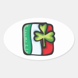 Bandera irlandesa calcomanía de óval personalizadas