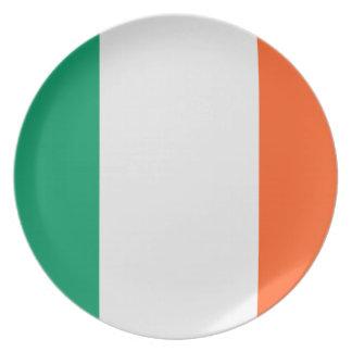 Bandera irlandesa plato de cena