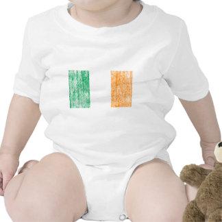 bandera irlandesa traje de bebé