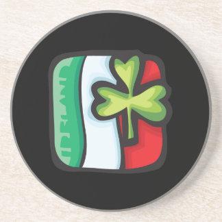 Bandera irlandesa posavasos cerveza