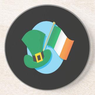 Bandera irlandesa posavasos para bebidas