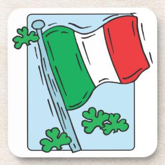 Bandera irlandesa posavasos de bebida