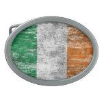 Bandera irlandesa rascada y llevada hebilla de cinturon