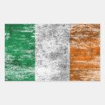 Bandera irlandesa rascada y llevada rectangular altavoz
