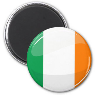Bandera irlandesa redonda brillante imán redondo 5 cm
