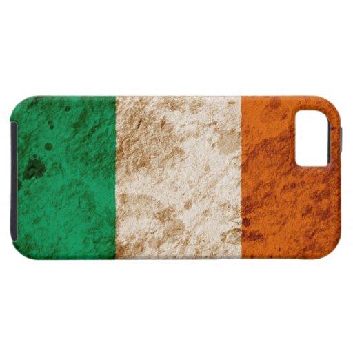 Bandera irlandesa rugosa iPhone 5 fundas