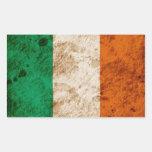 Bandera irlandesa rugosa pegatina