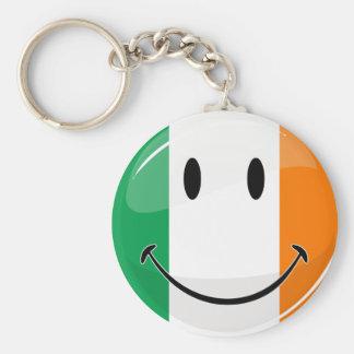 Bandera irlandesa sonriente redonda llavero redondo tipo pin