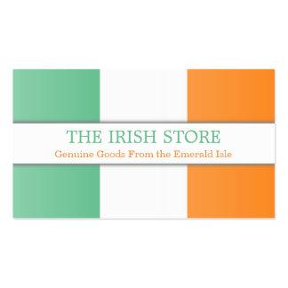 Bandera irlandesa, tarjeta de visita completamente