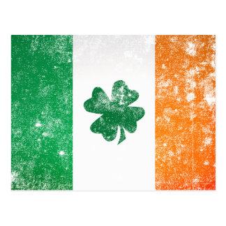 Bandera irlandesa tarjeta postal