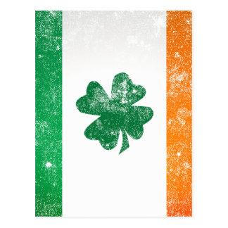 Bandera irlandesa tarjetas postales