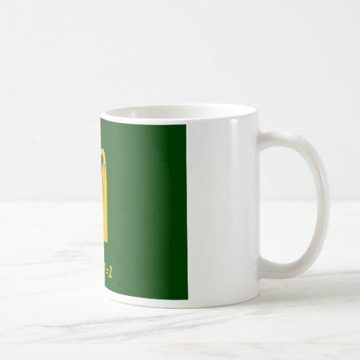 bandera irlandesa taza de café