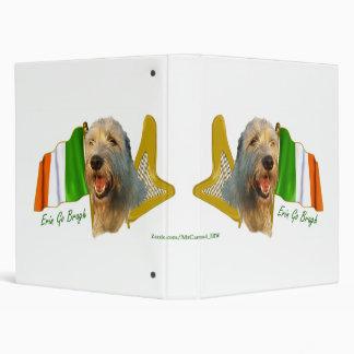 """Bandera irlandesa y arpa del Wolfhound irlandés Carpeta 1"""""""