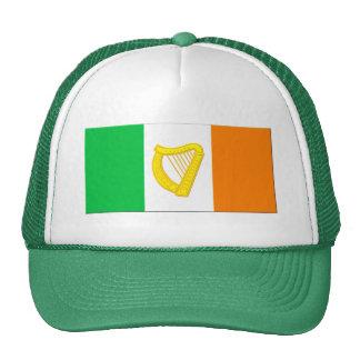 Bandera irlandesa y la arpa irlandesa gorros