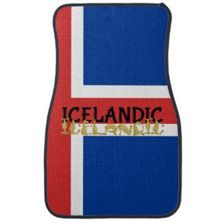 Bandera islandesa del caballo alfombrilla de auto