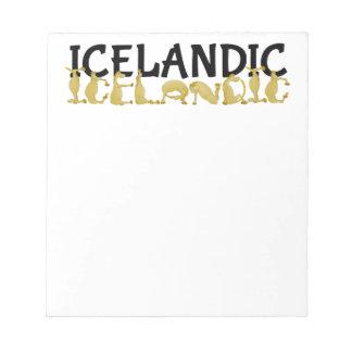 Bandera islandesa del caballo el | de Islandia Bloc De Notas