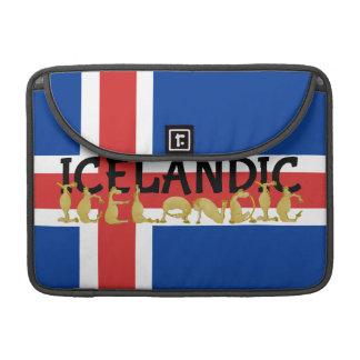 Bandera islandesa del caballo el | de Islandia Funda Para Macbook Pro