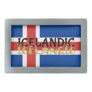 Bandera islandesa del caballo el | de Islandia Hebillas Cinturón Rectangulares