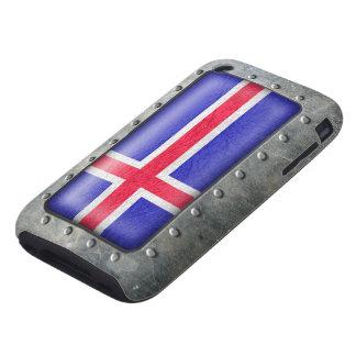 Bandera islandesa industrial carcasa resistente para iPhone