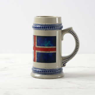 Bandera islandesa jarra de cerveza