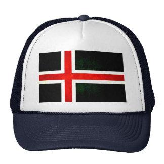 Bandera islandesa nerviosa moderna gorro de camionero