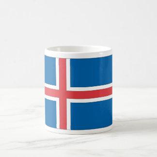 Bandera islandesa taza clásica