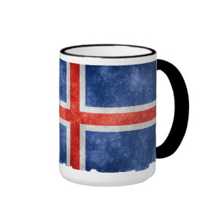 Bandera islandesa taza de dos colores