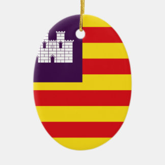Bandera Islas Baleares - Flag Balearic Islands Ceramic Ornament