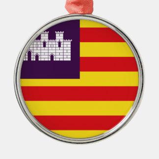 Bandera Islas Baleares - Flag Balearic Islands Metal Ornament